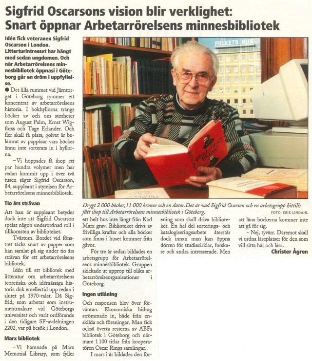 Artikel om bildandet av innesbiblioteket 2
